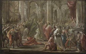 Sketch for the Coronation of the Empress Eleanora Magdalena Theresa of Pfalz-Neuburg in (1690)