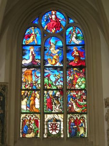 Leaded glass windows in the mortuary, Eichstätt Cathedral