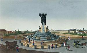 The Elephant Fountain at the Place de la Bastille, c.1815 - (20)