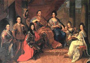 John III Sobieski with his family