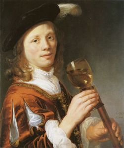 Boy with Wine Glass and Flute