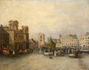 Morpeth market place, (1897)