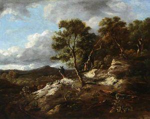 A rocky wooded landscape