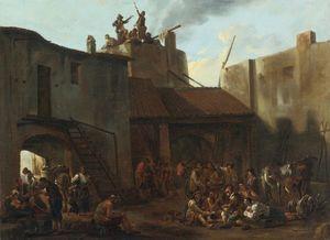 Roman Lime Kiln with Peasants Gambling
