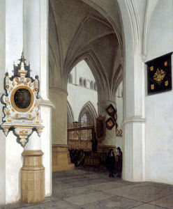 The Interior of St. Bavokerk, Haarlem, looking north-east toward the choir screen.