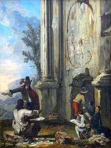 Signatories in Roman ruins
