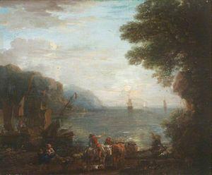 Coastal Scene with Shipping at Dawn