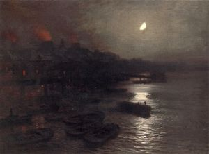 Moonlight from Vauxhall bridge