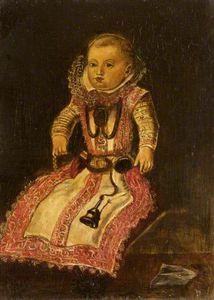 Maria Anna of Hapsburg (1606–1646), Infanta of Spain, as a Baby