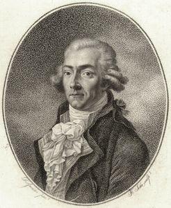Engraving of the celebrated 18th century bass singer Francesco Benucci