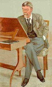 Caricature of George Louis Palmella Busson du Maurier