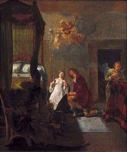 Tobias and Sarah praying on their wedding night.