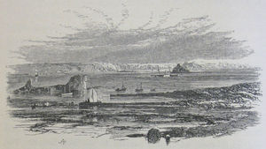 Herm, Jethou, Crévichon, and Sark, seen from the Vale Castle, Guernsey