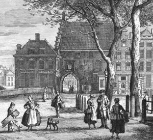 The Prison Gate in The Hague, the Netherlands in (1764)
