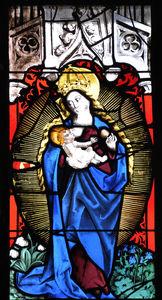 Bad Urach St Amandus window aureole Madonna