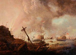Admiral Sir John Duckworth Forcing Pass through the Dardanelles, (1807)