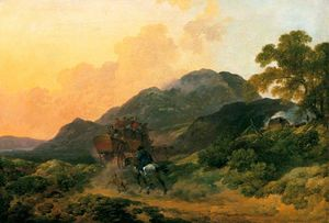 Skiddaw, Cumberland, a Summer Evening with a Stage Coach