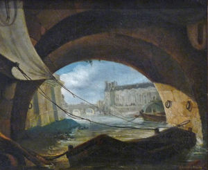 View of the Pont Neuf and Louvre