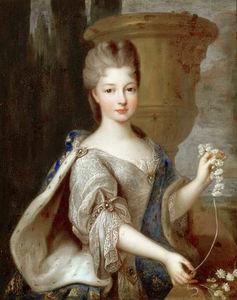 コンティのルイーズエリザベート・ド・ブルボン王女の肖像