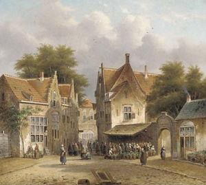 A flower market in a Dutch town