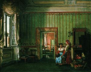 The dining room of the Galitzine House in Rome
