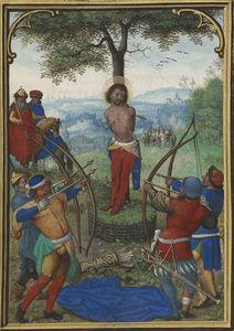 Leaf from the Munich-Montserrat Hours