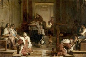 Cardinals, Priests and Roman Citizens Washing the Pilgrims' Feet