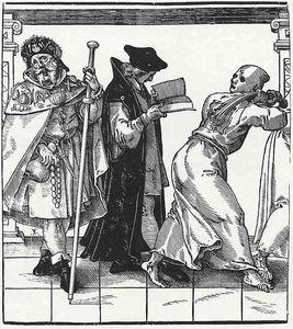 The church hierarchy, pilgrims, vicar and geissler