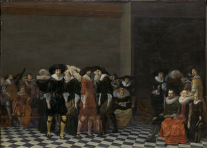 Wedding Party, traditionally known as the wedding of Adriaen Ploos van Amstel and Agnes of Bijler