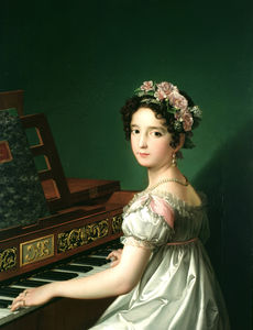 Manuela González Velázquez, playing the piano