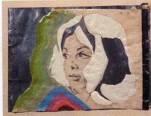 Autoportrait sur papier d'argent