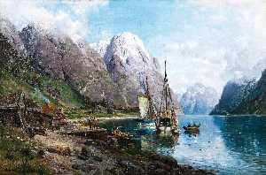 Harbor in the Sognefjord (also known as From a Harbor in the Sognefjord)