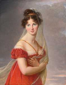 Портрет aglaé анжелик Габриель де Gramont ( 1787 1842 ) , жена генеральный Александр Давыдова