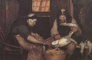 Dansk To gamle, der plukker måger Deutsch Zwei Alte rupfen Möwen English Two old people plucking gulls