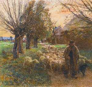 Le Berger et son Troupeau, Le Soir