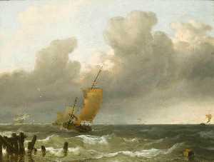 Shipping by the Dutch Coast
