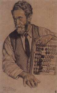 Man with Abacus