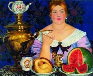 The Merchant's Wife Having Tea