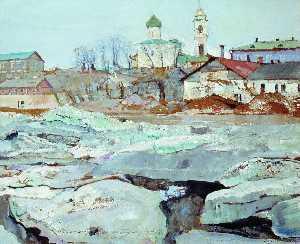 Ice Floating in Pskov
