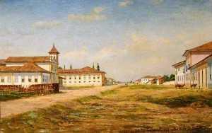 Brás church in 1860