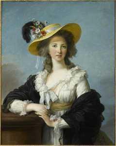 йоланде мартин Габриель де Polastron , герцогиня де Polignac Портрет а.е. вводная де paille