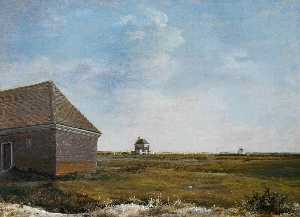 Newmarket Heath, with a Rubbing Down House