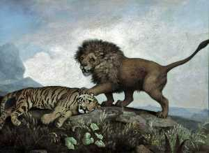 A Lion and Tiger