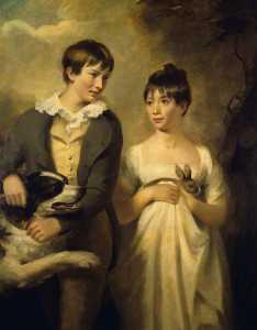 der kinder von professor dugald stewart george ( d . 1809 ) , und maria ( d . 1846 ) , als kinder