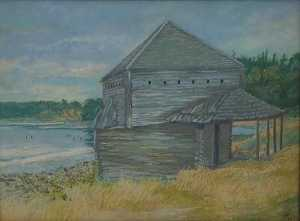 Historic Old Fort, (painting)