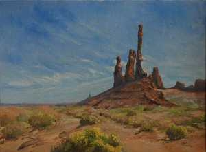 The Totem Poles, (painting)