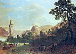 Oberwesel on the Rhine, (painting)