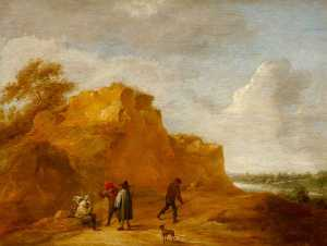 Sand Cliff and Figures
