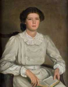 ailsa marr hatton ( 1893–1949 ) , in ein Grau Kleid