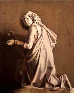Plaster Cast of a Kneeling Angel